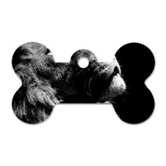 Male Lion Face Dog Tag Bone (one Side) by Celenk