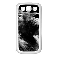 Male Lion Face Samsung Galaxy S3 Back Case (white) by Celenk