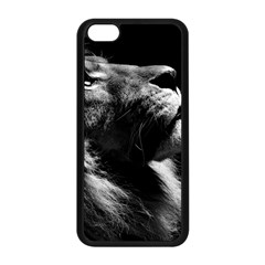 Male Lion Face Apple Iphone 5c Seamless Case (black) by Celenk