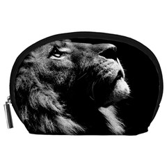 Male Lion Face Accessory Pouches (large)  by Celenk