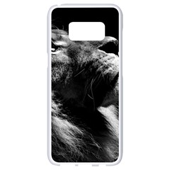 Male Lion Face Samsung Galaxy S8 White Seamless Case