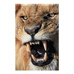 Male Lion Angry Shower Curtain 48  X 72  (small)  by Celenk