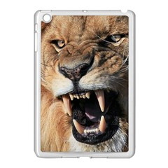 Male Lion Angry Apple Ipad Mini Case (white)