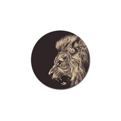 Angry Male Lion Golf Ball Marker