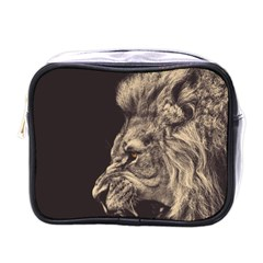 Angry Male Lion Mini Toiletries Bags by Celenk