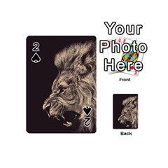 Angry Male Lion Playing Cards 54 (mini)  by Celenk
