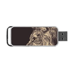 Angry Male Lion Portable Usb Flash (one Side) by Celenk