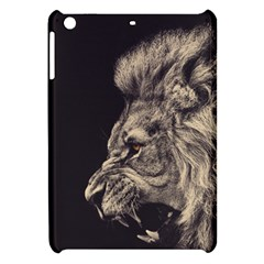 Angry Male Lion Apple Ipad Mini Hardshell Case by Celenk