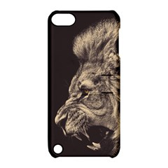 Angry Male Lion Apple Ipod Touch 5 Hardshell Case With Stand by Celenk