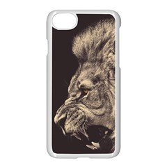 Angry Male Lion Apple Iphone 8 Seamless Case (white) by Celenk