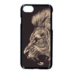 Angry Male Lion Apple Iphone 8 Seamless Case (black) by Celenk