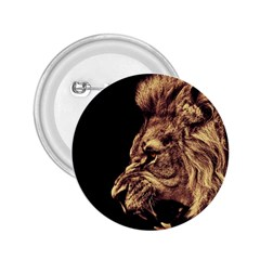 Angry Male Lion Gold 2 25  Buttons by Celenk