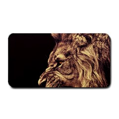 Angry Male Lion Gold Medium Bar Mats by Celenk