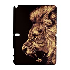Angry Male Lion Gold Galaxy Note 1