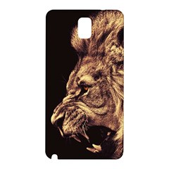Angry Male Lion Gold Samsung Galaxy Note 3 N9005 Hardshell Back Case