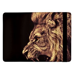 Angry Male Lion Gold Samsung Galaxy Tab Pro 12 2  Flip Case