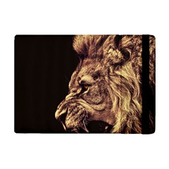 Angry Male Lion Gold Ipad Mini 2 Flip Cases