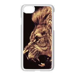 Angry Male Lion Gold Apple Iphone 8 Seamless Case (white)