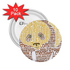 Panda Typography 2 25  Buttons (10 Pack)