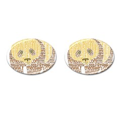 Panda Typography Cufflinks (oval)