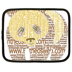 Panda Typography Netbook Case (large)