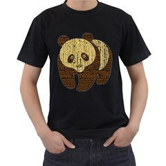 Panda Typography Men s T Shirt (black)