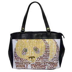 Panda Typography Office Handbags by Celenk