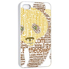 Panda Typography Apple Iphone 4/4s Seamless Case (white)