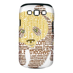 Panda Typography Samsung Galaxy S Iii Classic Hardshell Case (pc+silicone)
