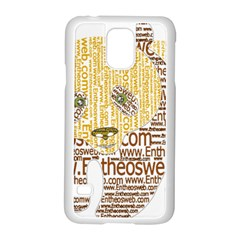 Panda Typography Samsung Galaxy S5 Case (white)