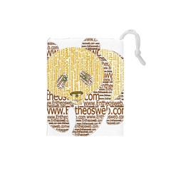 Panda Typography Drawstring Pouches (small)