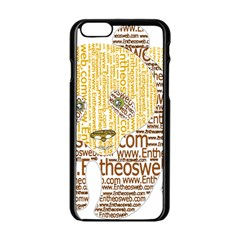 Panda Typography Apple Iphone 6/6s Black Enamel Case