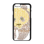 Panda Typography Apple iPhone 6/6S Black Enamel Case Front