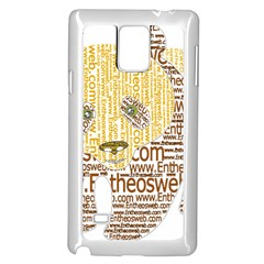Panda Typography Samsung Galaxy Note 4 Case (white) by Celenk