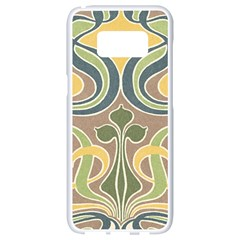 Art Floral Samsung Galaxy S8 White Seamless Case by 8fugoso