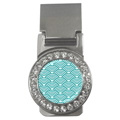 Art Deco Teal Money Clips (cz)  by 8fugoso