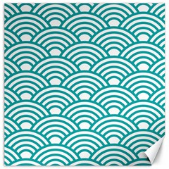 Art Deco Teal Canvas 20  X 20   by 8fugoso