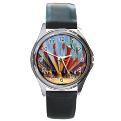 3abstractionism Round Metal Watch by 8fugoso