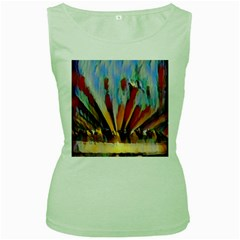 3abstractionism Women s Green Tank Top by 8fugoso