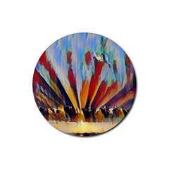 3abstractionism Rubber Coaster (round)  by 8fugoso