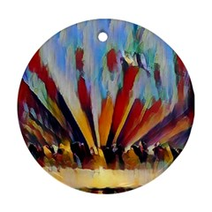 3abstractionism Round Ornament (two Sides) by 8fugoso