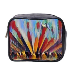 3abstractionism Mini Toiletries Bag 2 Side by 8fugoso