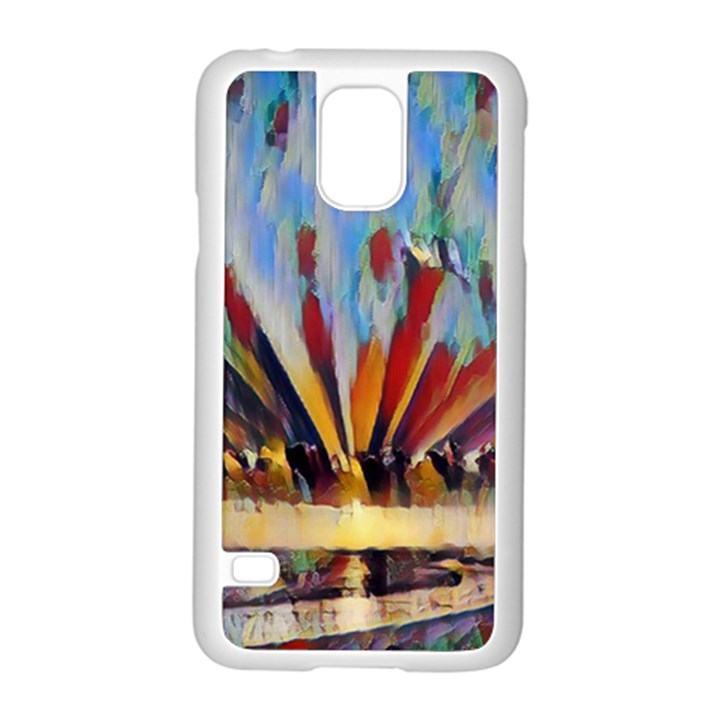 3abstractionism Samsung Galaxy S5 Case (White)
