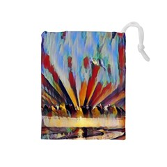 3abstractionism Drawstring Pouches (medium)  by 8fugoso