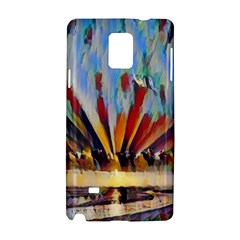 3abstractionism Samsung Galaxy Note 4 Hardshell Case by 8fugoso