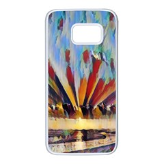 3abstractionism Samsung Galaxy S7 White Seamless Case by 8fugoso