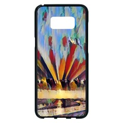 3abstractionism Samsung Galaxy S8 Plus Black Seamless Case by 8fugoso