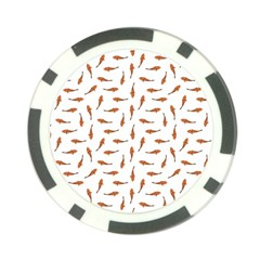 Koi Fishes Motif Pattern Poker Chip Card Guard (10 Pack)