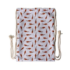 Koi Fishes Motif Pattern Drawstring Bag (small) by dflcprintsclothing