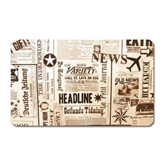 Vintage Newspapers Headline Typography Magnet (rectangular) by yoursparklingshop